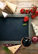 Fresh ingredients for italian cuisine Stock Photos