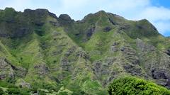 The Koolau Range on Oahu, Hawaii, USA Stock Footage