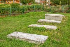 Old Jewish cemetery in Pristina Stock Photos