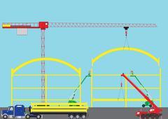 construction site - stock illustration