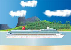 Cruise liner Piirros