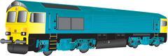 Freight loco Stock Illustration