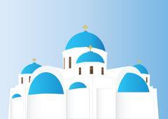 greek orthodox church - stock illustration
