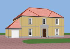 Detached house Stock Illustration
