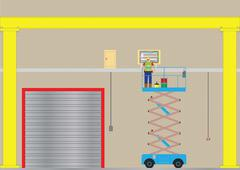 scissor lift - stock illustration