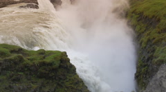 Gullfoss waterfall Stock Footage