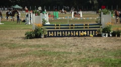 LANGLEY BC CANADA  Campbell Valley horse jumping competition. Stock Footage