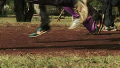Marathon Runners practicing in Kenia - Slow Motion Stock Footage
