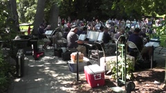 Band Playing Music In Park At Ballard Locks Stock Footage