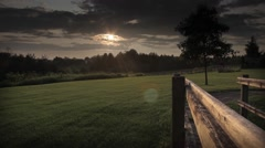 Dusk in the countryside Stock Footage