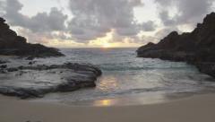 Halona Beach Cove, Oahu, Hawaii, 60p Stock Footage