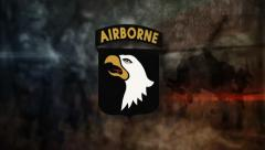 101th airborne division logo animation - stock footage