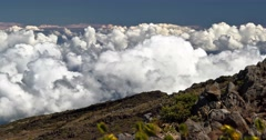 Stock Video Footage of 4k timelapse of haleakala volcano, hawaii