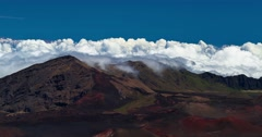 4k timelapse of haleakala volcano, hawaii - stock footage