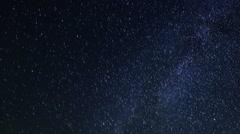 Starry sky over the reservoir in Kremenchuk. Mountain Piviha.  Stock Footage