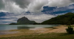 4k timelapse of beach at le morne, mauritius Stock Footage
