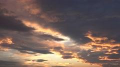 ULTRA HD 4K Beautiful sunlight sunset cloudy sky summer season cloudscape day  Stock Footage