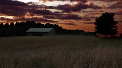 Serene sunset on the farm Stock Footage