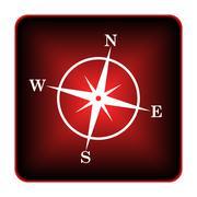Stock Illustration of compass icon