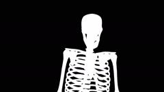 Skeleton Dance Alpha Matte Stock Footage