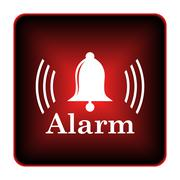 alarm icon - stock illustration