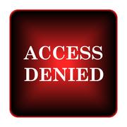 Access denied icon Stock Illustration