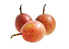 passion fruit isolated - stock photo