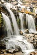 beautiful silky waterfall - stock photo
