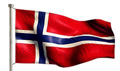 Norway national flag isolated 3d white background Stock Illustration