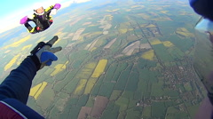 California USA, January 2015: Skydiver free falling from 12000 feet in training. - stock footage