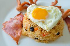 thai food, american fried rice - stock photo