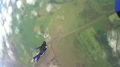 Skydiving free fall Stock Footage