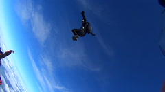 California USA, January 20015 Skydiving person in free fall - stock footage