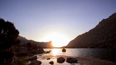 Day follows night, Kulikolon lakes. Tajikistan. Time Lapse Stock Footage