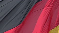 ULTRA HD 4K Closeup German flag blow sunny day Germany national symbol wave wind Stock Footage