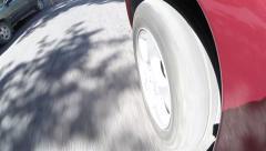 Car's wheel rolling Stock Footage