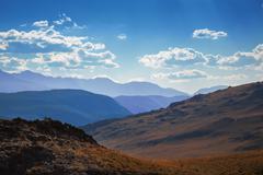 altai scenic mountains - stock photo