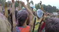 Girls teenagers waving hands to music at festival slow motion, click for HD Footage