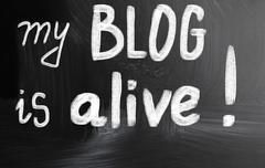 My blog is alive! Stock Illustration