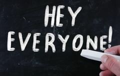 hey everyone! - stock illustration