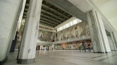 Oslo Town Hall - inside - wide shot with movement Stock Footage