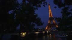 Romantic Eiffel Tower Stock Footage