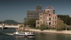 Hiroshima - The Dome - stock footage