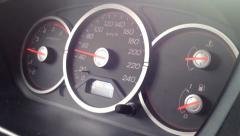 speedometer in the car - stock footage