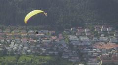 Para Glider in Bergen - Norway Stock Footage