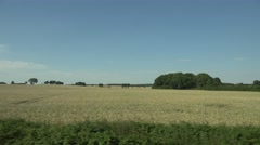 ULTRA HD 4K POV Point of view train trip sunny day view cereal field rural place Arkistovideo