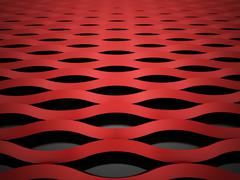 Red mesh background concept rendered Stock Illustration