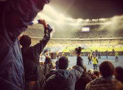 Soccer Night Kiev Stock Photos