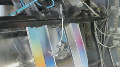 Industrial printing of leaflets and magazines at a rotary press factory Stock Footage