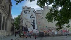 Paris Graffito Stock Footage